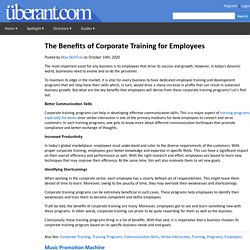 The Benefits of Corporate Training for Employees