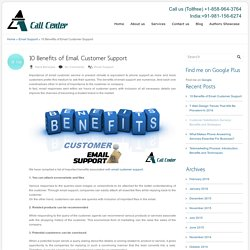 10 Benefits of Email Customer Support