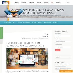 Five Rock solid Benefits from Buying Customized ERP software
