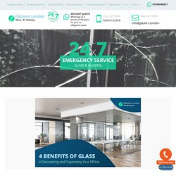 4 Benefits of Glass in Decorating your Workplace