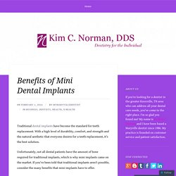 Benefits of Mini Dental Implants