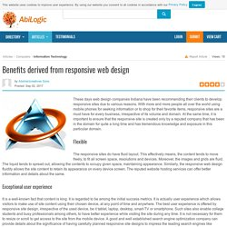 Benefits derived from responsive web design