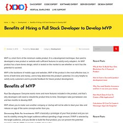 Benefits of Hiring a Full Stack Developer to Develop MVP
