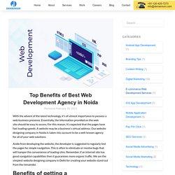Top Benefits of Best Web Development Agency in Noida