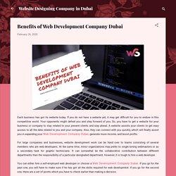 Benefits of Web Development Company Dubai