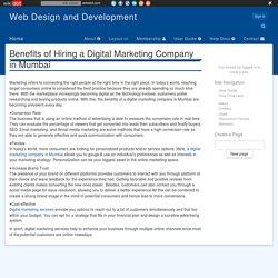 Benefits of Hiring a Digital Marketing Company in Mumbai