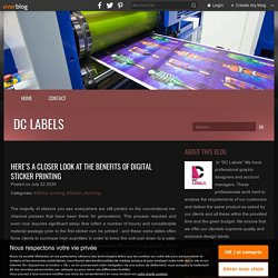 Here's a closer look at the benefits of digital sticker printing - DC Labels