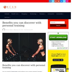 Benefits you can discover with personal training