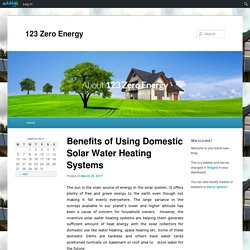 Benefits of Using Domestic Solar Water Heating Systems