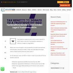 Tax Benefits to Donate to NGO in India