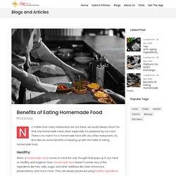 Benefits of Eating Homemade Food