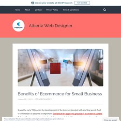 Benefits of Ecommerce for Small Business – Alberta Web Designer