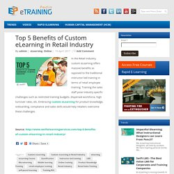 Top 5 Benefits of Custom eLearning in Retail Industry