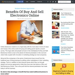 Benefits Of Buy And Sell Electronics Online