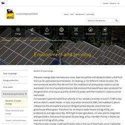 Energia solare - Benefici dell'energia solare