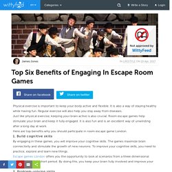 Most Useful Benefits Of Engaging In Escape Room Games