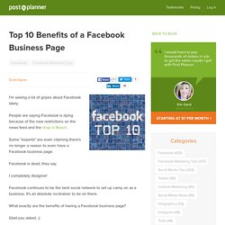 Top 10 Benefits of a Facebook Business Page