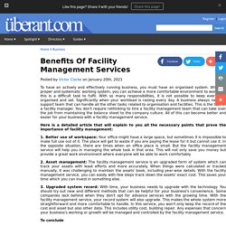 Benefits Of Facility Management Services