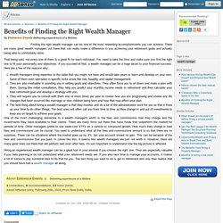 Benefits of Finding the Right Wealth Manager by Eminence Events