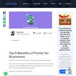 Top 5 Benefits of Flutter for Businesses