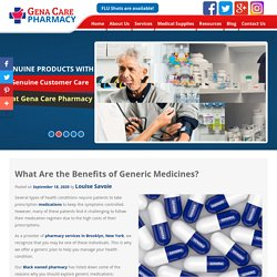 What Are the Benefits of Generic Medicines?