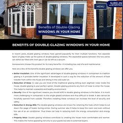 Benefits of Double-Glazing Windows in Your Home