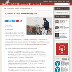 4 User Benefits of Great Mobile Learning Apps