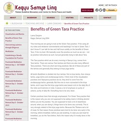 Benefits of Green Tara Practice