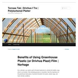 Benefits of Using Greenhouse Plastic (or Drivhus Plast) Film