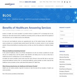 Benefits of Healthcare Answering Services
