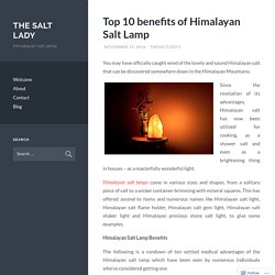Top 10 benefits of Himalayan Salt Lamp