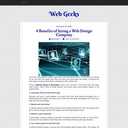 4 Benefits of hiring a Web Design Company
