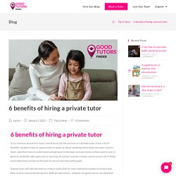 Book a Tutor in France to get the benefits of hiring a Private Tutor