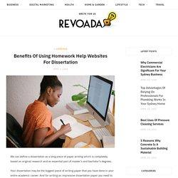 Benefits Of Using Homework Help Websites For Dissertation
