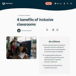4 Benefits of Inclusion Classrooms