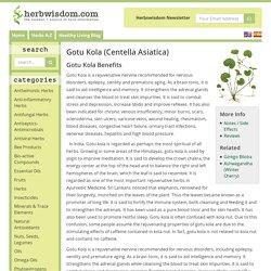 Gotu Kola Benefits & Information (Centella Asiatica)