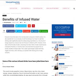 Benefits of Infused Water