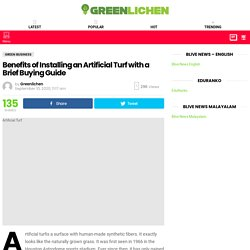 Benefits of Installing an Artificial Turf