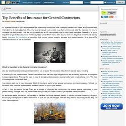 Top Benefits of Insurance for General Contractors