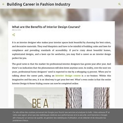 What are the Benefits of Interior Design Courses?