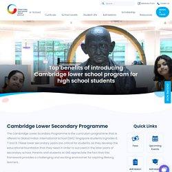 Top benefits of introducing Cambridge lower school program for high school students