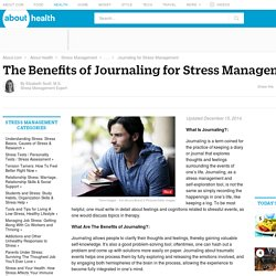 Journaling - The Benefits of Journaling for Stress Management