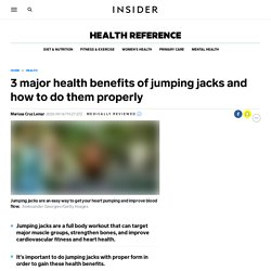 3 major health benefits of jumping jacks and how to do them properly - Insider