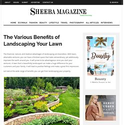The Various Benefits of Landscaping Your Lawn