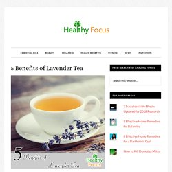 5 Benefits of Lavender Tea - Healthy Focus