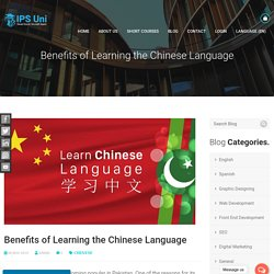 Benefits of Learning the Chinese Language