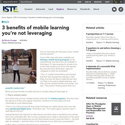 3 benefits of mobile learning you're not leveraging