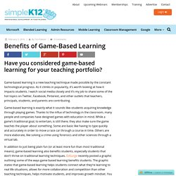 Benefits of Game-Based Learning - Simplek12