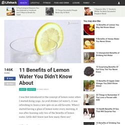 11 Benefits of Lemon Water You Didn't Know About