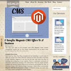 5 Benefits Magento CMS offers to a Business